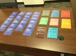 Behaviour design cards ready for the workshop.